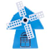 Точилка для карандашей ZiBi МЕЛЬНИЦА, механическая, голубая, пл. коробка (ZB.5514)