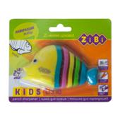 Точилка ZiBi Kids Line Рыбка с контейнером, 1 отв.. блистер, ассорти (ZB.5531-5)