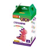 Набор воздушного пластилина для детского творчества ZiBi Стегозаврик 6 стиков Kids Line (ZB.6260)