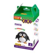 Набор воздушного пластилина для детского творчества ZiBi Пингви 6 стиков Kids Line (ZB.6263)
