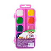 Акварельные водорастворимые краски ZiBi на розовой палитре 10 цветов Kids Line (ZB.6543-12)