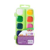 Акварельные водорастворимые краски ZiBi на палитре, 10 цветов, салатовая. KIDS Line (ZB.6543-15)