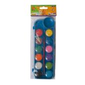 Краски акварельные ZiBi с кистью 12 цветов (ZB.6559-02)