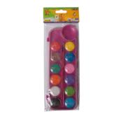 Краски акварельные ZiBi с кистью 12 цветов (ZB.6559-10)
