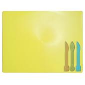 Досточка для пластилина ZiBi ZB.6910-08, 3 стека, желтый