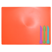 Досточка для пластилина ZiBi ZB.6910-27, 3 стека, кораловый