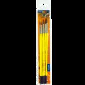 Набор кистей ZiBi Smart Line круглые из пони 5шт (ZB.6963PR-4)