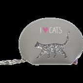 Кейс для монет ZiBi Cat Lover декорированный глиттером 12,5x8,5x4,5 см Cерый (ZB.702203)