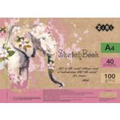 Скетчбук ZiBi Art Line А4 на 40 листов белого цвета 100 г/м2 (ZB.1487)