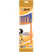 Ручка Bic Orange синяя 4шт в блистере (bc8308521)