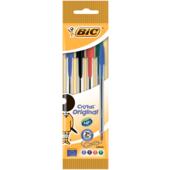 Ручка Bic Cristal ассорти 4шт в блистере (bc8308621)