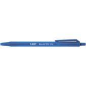 Ручка шариковая автоматическая BiC Round Stic Clic с синим овальным корпусом Синяя (bc926376)