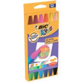 Мел цветной Bic Oil Pastel Kids восковой шестигранный 12 шт (bc926446)