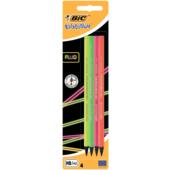 Набор карандашей чернографитовых Bic Evolution Fluo 4шт НВ в блистере (bc940758)