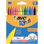 Мел цветной Bic Plastidecor круглый 12 шт (bc945764)