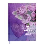 Ежедневник недатированный Buromax Romantic A5 288 с. Фиолетовый (BM.2040-07)