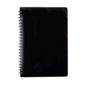 Тетрадь для записей Buromax Gloss А5 80 л. в клетку с пластиковой обложкой Черный (BM.24552151-01)