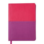 Ежедневник недатированный Buromax Quattro А6 с обложкой из искусственной кожи 288 с. L2U Розовый с сиреневым (BM.2609-91)