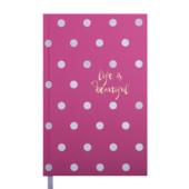 Ежедневник недатированный Buromax Elegante А6 288 с. Розовый (BM.2622-10)