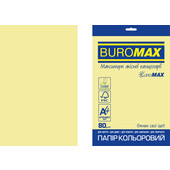 Бумага цветная Buromax Euromax А4, 80г/м2, PASTEL, желтый, 20л. (BM.2721220E-08)