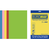 Набор цветной бумаги Buromax Euromax А4, 80г/м2, INTENSIVE, 5цв., 50л. (BM.2721350E-99)