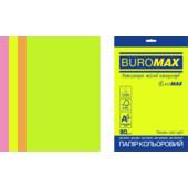 Набор цветной бумаги Buromax Euromax А4, 80г/м2, NEON, 4цв., 20л. (BM.2721520E-99)