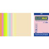 Набор цветной бумаги Buromax Euromax А4, 80г/м2, PASTEL+NEON, 10цв., 50л. (BM.2721750E-99)