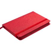 Деловой блокнот Buromax Ingot (95x140 мм) в клетку с обложкой из искусственной кожи 80 л. Красный (BM.29012103-05)