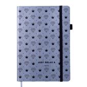 Блокнот деловой Buromax Relax, А5, 96 стр., серебро, без разлиновки (BM.295001-24)