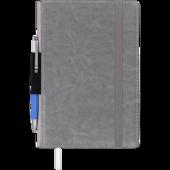 Блокнот деловой Buromax CODE, L2U, А5, 96 л., клетка, серый, иск.кожа (BM.295106-09)
