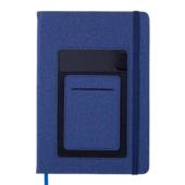 Блокнот деловой Buromax COMFORT, А5, 96 л., нелинов., синий, иск.кожа (BM.295009-02)