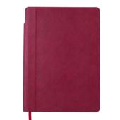 Блокнот деловой Buromax FRESH, А5, 96 л., нелинов., т.-красный, иск.кожа (BM.295011-13)