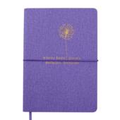 Блокнот деловой Buromax NICE, А5, 96 л., нелинов., фиолетовый, иск.кожа (BM.295015-07)