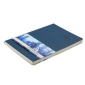 Деловой блокнот Buromax Color Tunes 96 листов А5 в клетку обложка из искуственной кожи Синий (BM.295100-02)