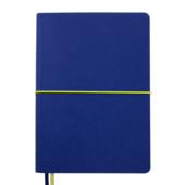 Блокнот деловой Buromax UNIQUE, А5, 96 л., клетка, синий, иск.кожа (BM.295107-02)