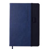 Блокнот деловой Buromax RECORD, А5, 96 л., клетка, синий, иск.кожа (BM.295110-02)