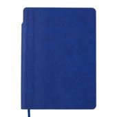 Блокнот деловой Buromax FRESH, А5, 96 л., клетка, синий, иск.кожа (BM.295111-02)