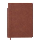 Блокнот деловой Buromax FRESH, А5, 96 л., клетка, коричневый, иск.кожа (BM.295111-25)