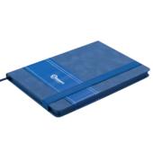 Деловой блокнот Buromax Smarti А5 в клетку с обложкой из искусственной кожи 96 л. L2U Синий (BM.29511111-02)