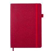 Блокнот деловой Buromax WILD, А5, 96 л., клетка, красный, иск.кожа (BM.295116-05)