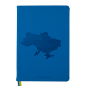 Деловой блокнот Buromax Ukraine А5 в клетку с обложкой из искусственной кожи 96 л. Синий (BM.295120-02)