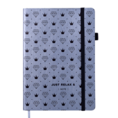 Блокнот деловой Buromax Relax, А5, 96 стр., серебро, линия (BM.295201-24)