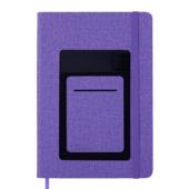 Блокнот деловой Buromax COMFORT, А5, 96 л., клетка, фиолетовый, иск.кожа (BM.295109-07)