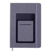 Блокнот деловой Buromax COMFORT, А5, 96 л., линия, серый, иск.кожа (BM.295209-09)