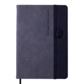 Блокнот деловой Buromax RECORD, А5, 96 л., линия, серый, иск.кожа (BM.295210-09)