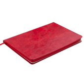 Деловой блокнот Buromax Bellagio А5 в клетку с обложкой из искусственной кожи 96 л. L2U Красный (BM.29521101-05)