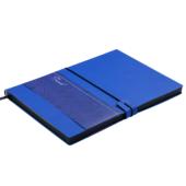 Деловой блокнот Buromax Travel А5 в клетку с обложкой из искусственной кожи 96 л. L2U Синий (BM.29521102-02)