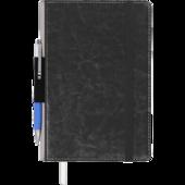 Блокнот деловой Buromax CODE, L2U, А5, 96 л., линия, черный, иск.кожа (BM.295215-01)