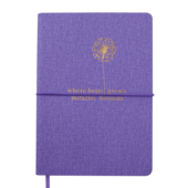 Блокнот деловой Buromax NICE, А5, 96 л., линия, фиолетовый, иск.кожа (BM.295215-07)