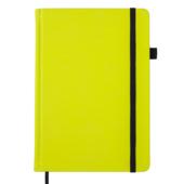 Блокнот деловой Buromax BRIGHT, А5, 96 л., чистый (черн. бум.), желтый, иск.кожа (BM.295401-08)